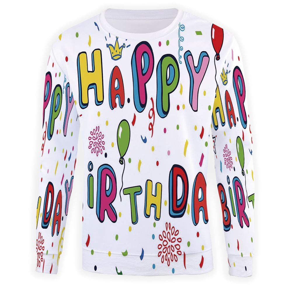 MOOCOM Adult Birthday Decorations Crewneck Sweatshirt