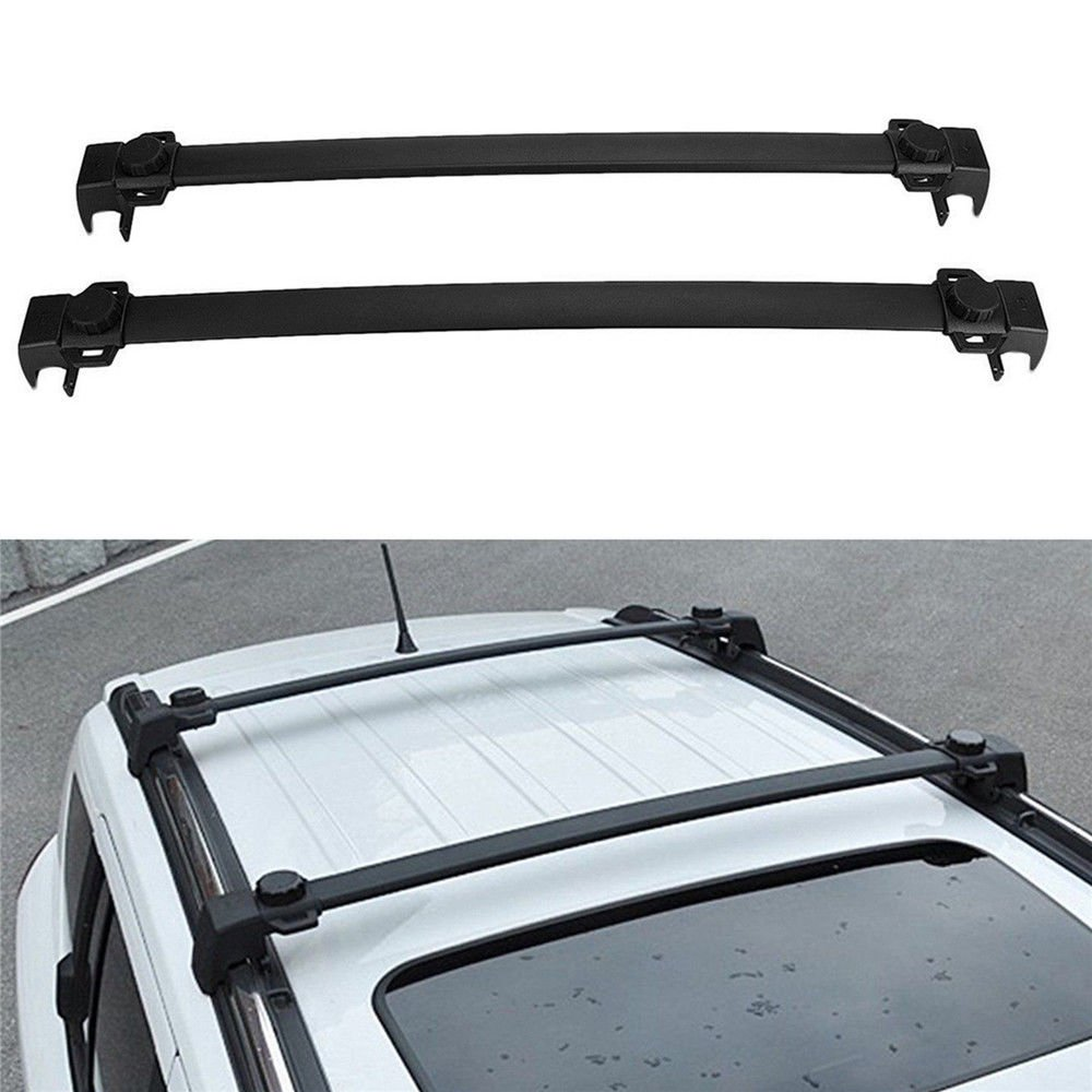 MotorFansClub Black Roof Rack Cross Bars Luggage Cargo Carrier for Jeep Compass 17-18