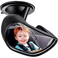 ELUTO Baby Car Mirror Upgrade Suction Cup with Strong Suction Rearview Baby Mirror Facing Back Seat Mirror for Child Shakeproof 360 ° Rotation Adjustable(15 * 10 * 5cm)