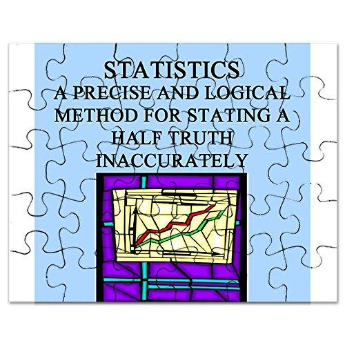 Funny Christmas Statistics - CafePress - Funny Statistics Math Gifts T-Shirt - Jigsaw Puzzle, 30 pcs.