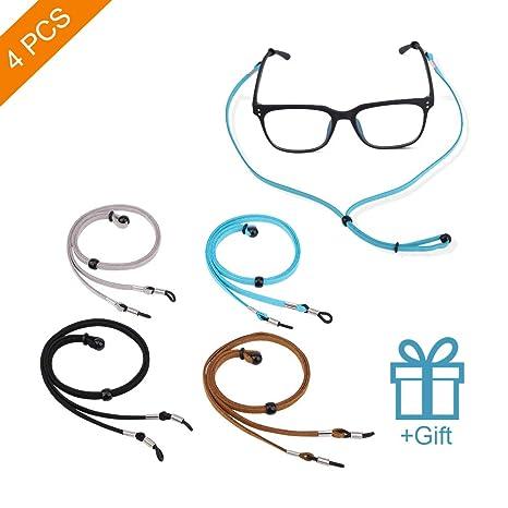 Amazon.com: 4 correas para sujetar gafas y gafas, correa ...