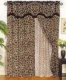 KingLinen Giraffe Animal Curtain Set w/Valance/Sheer/Tassels For Sale