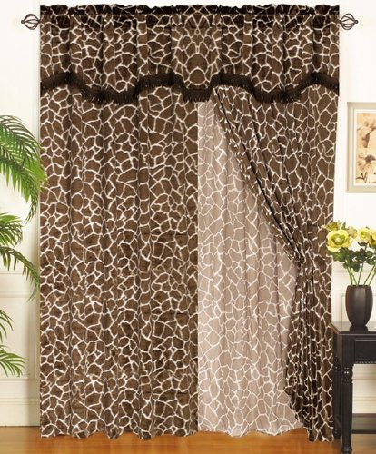11Pc Queen Giraffe Animal Kingdom Bedding Comforter Set