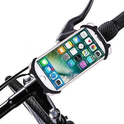 Bicicleta de silicona teléfono para pantalla plana, soporte de teléfono móvil soporte para bicicleta o