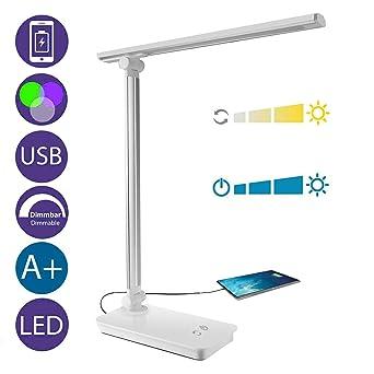 Connecteur Top Table Bureau Lampe UsbChevet Liseuse Puissante 3 Luminosité Led Avec amp;g Niveaux LedS De Tactile 5 Couleurs OXZkPTiu