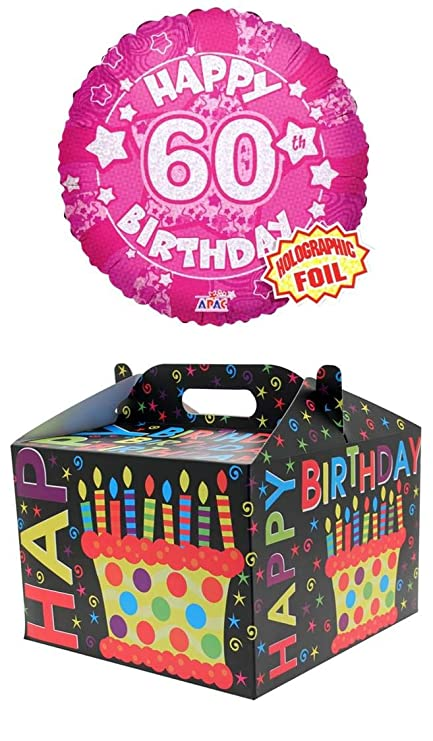 Cards Galore Online Round 18 60th Birthday Foil Helium Balloon In Box