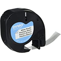 Dymo LetraTag plastic labeltape Kunststof 1 Zwart op Wit