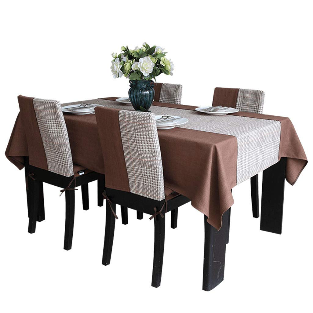SCJ テーブルクロス - シンプルモダンシミュレーションシルクテーブルクロスソリッドカラーコーヒーテーブル - マルチサイズオプション(サイズ:140× 200cm) 140 × 200cm  B07S93331P