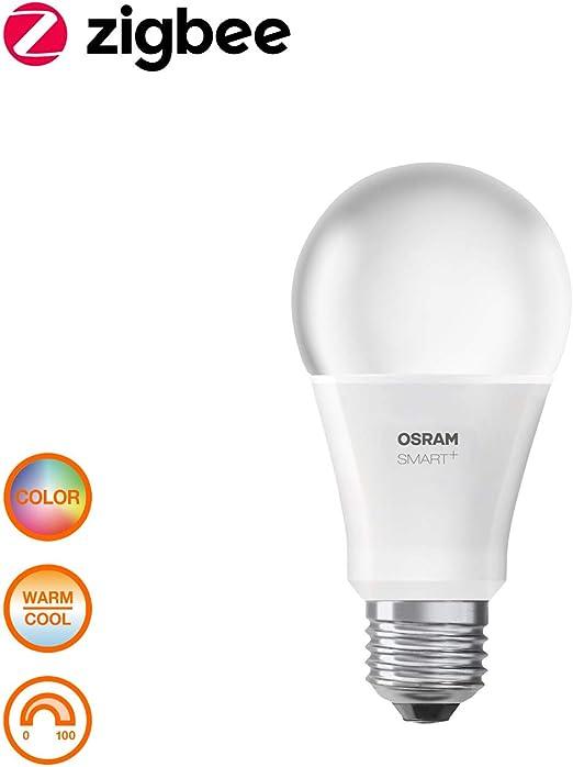 OSRAM Smart+ RGB LED mit Fernbedienung, ZigBee LED Lampe E27 mit Schalter, warmweiß bis tageslicht, dimmbar, Direkt kompatibel mit Echo Plus und Echo