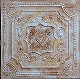 Pl04 Faux Tin Finish Decorative Fancy Design Distressed Ceiling Tiles 3d Emboss Coffee Pub Rustic Wall Deco Panels 10pieces/lot