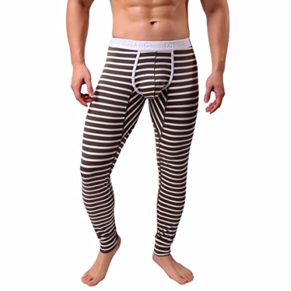 696c741c1f Amazon.com: Long Johns,AutumnFall Mens Striped Breathable Patchwork ...