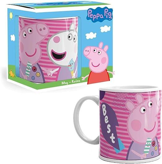 Peppa Pig Taza de Cerámica Best Friends 300 ml | Taza en Caja de ...