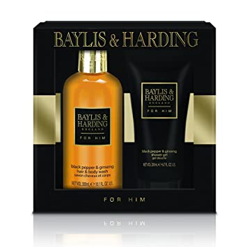 f920b2e471 Baylis   Harding Black Pepper and Ginseng Grooming Duo Gift Set   Amazon.co.uk  Beauty