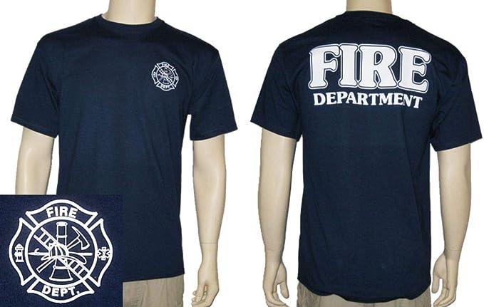 Firestone Bombero de camiseta de manga corta (azul marino) - Azul ...