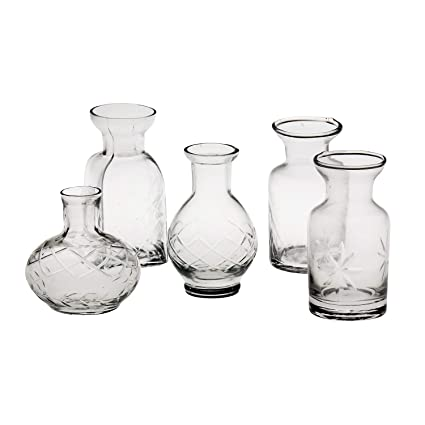 Small Cut Gl Vases In Differing Unique Shapes - Set Of Five by ... on small clocks cheap, small handbags cheap, small baskets cheap, small trophies cheap, small tables cheap, small chairs cheap, small fish bowls cheap,
