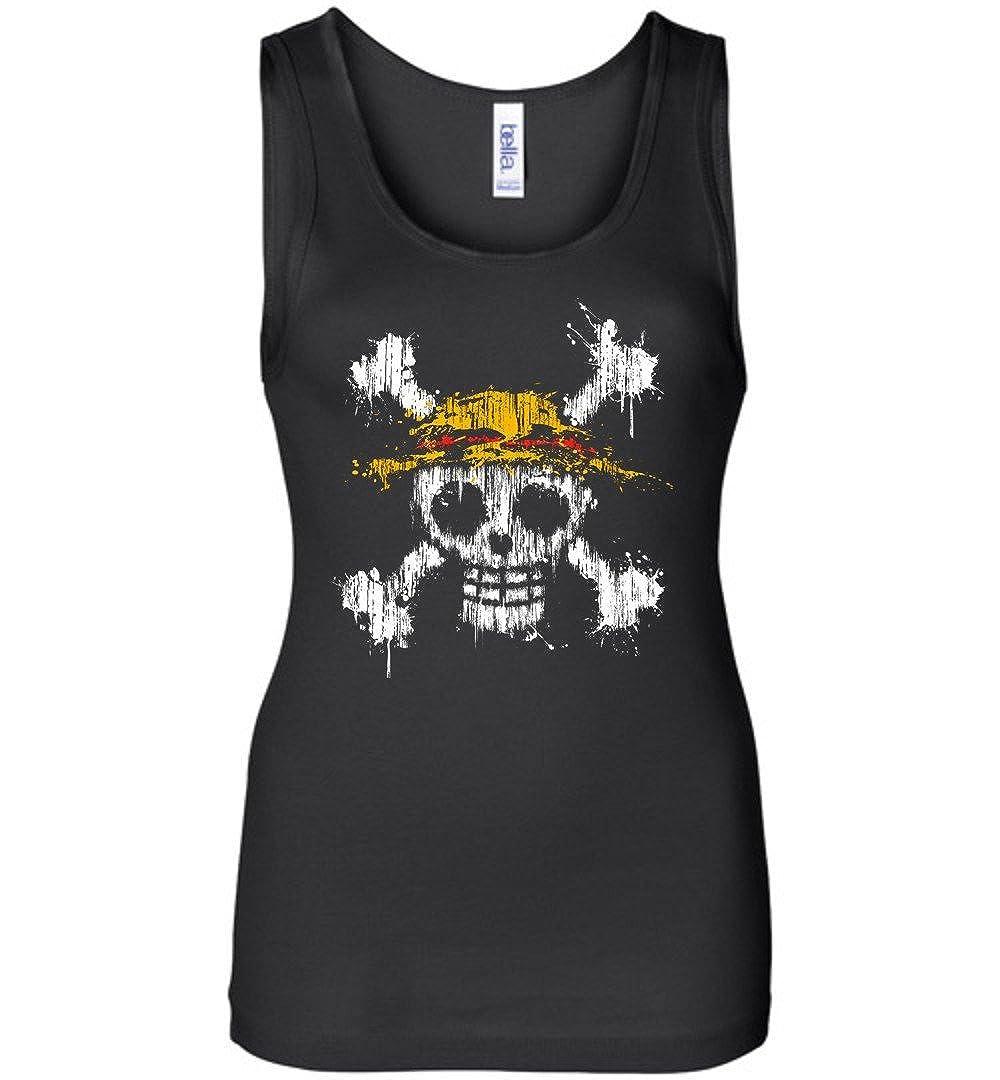 TEEPAAA One Piece Skull Halloween Wide Strap Tank