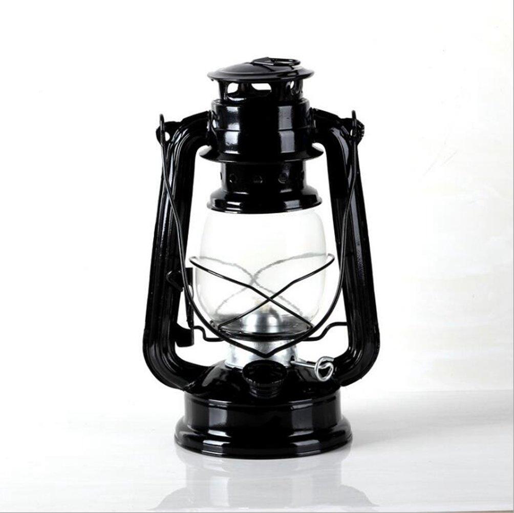 Luz Que Del Acampa Del Que Metal Portátil Retro De La Linterna Al Aire Libre De La Linterna Del Aceite De Huracán,Negro 45c920