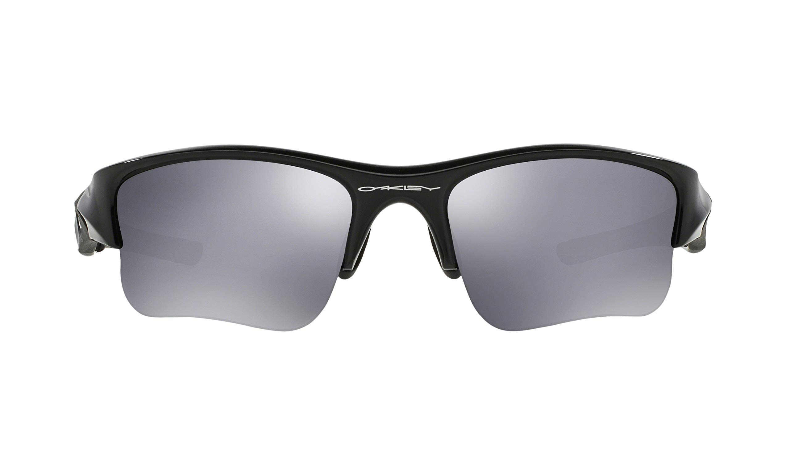 Oakley Flak Jacket XLJ Sunglasses (Jet Black Frame, Black Iridium Lens) with Lens Cleaning Kit and Ellipse O Carbonfiber Hard Case by Oakley