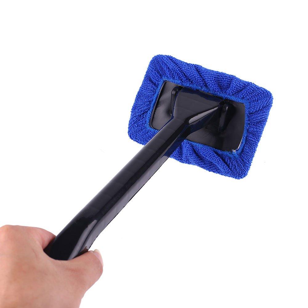 Sedeta/® Essuie-glaces de pare-brise de voiture Microfibre Nettoyage de Lavage de vitres de polissage Brosse de soins Des kits de nettoyage facile pour le nettoyage quotidien des m/énages Bleu
