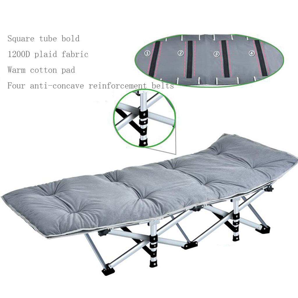 A16 Reinforced Folding Bed Office Folding Bed Single Bed Lunchtime Recliner Simple Accompanying Camping Bed Upgrade Without Noise (color   A11)