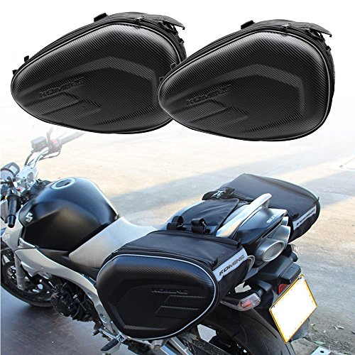 Motorcycle Swingarm Bag, 2 PCS 600D Expandable Motorcycle Rear Seat Side Luggage Saddle Bag Motocross (M Size) (58L)
