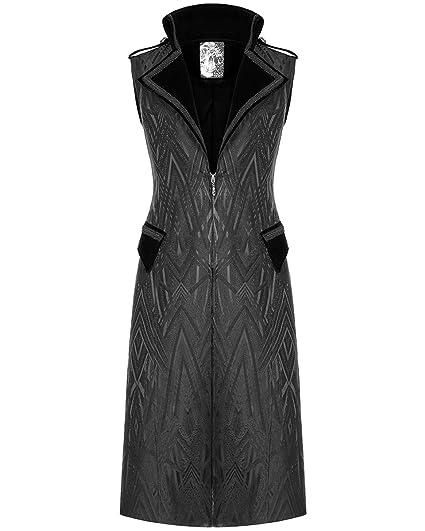 Men/'s Gothic Waistcoat Tailcoat Vest Black Steampunk Vampire