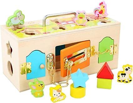 Brain Game Gowsch Montessori Caja de madera colorida con diseño de ...