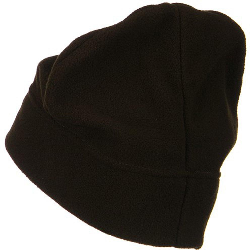 3717ccdea80 Big Size Fleece Beanie - Brown (for Big Head) at Amazon Men s Clothing  store  Skull Caps