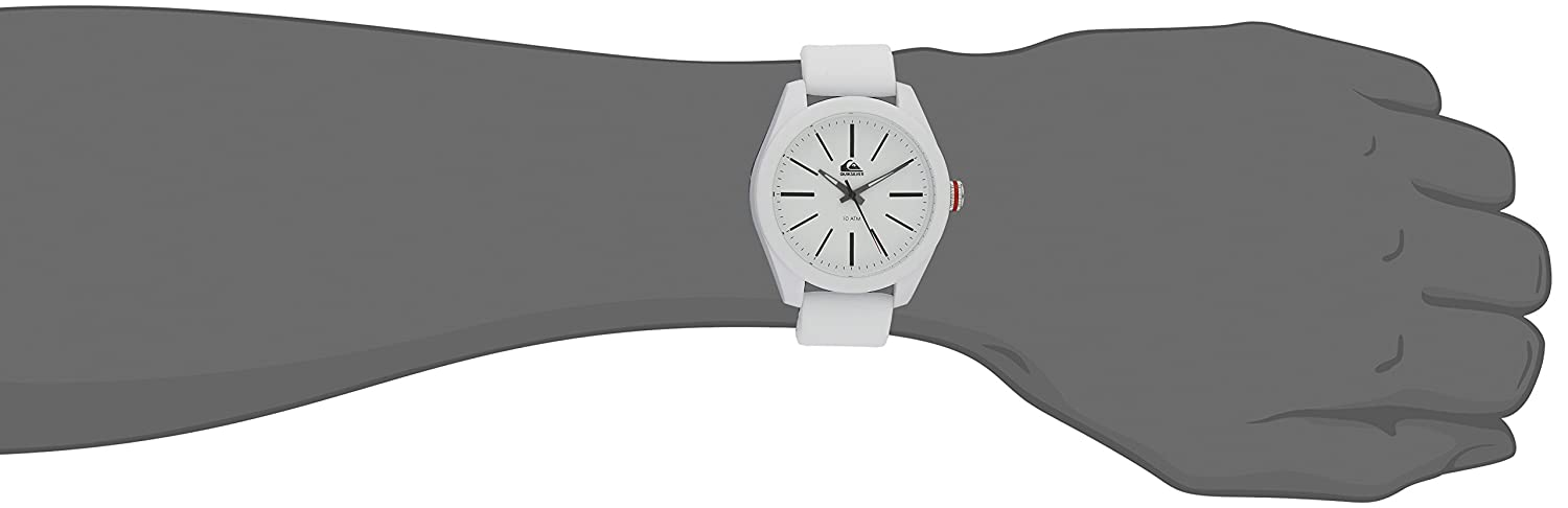 Amazon.com: Quiksilver Mens QS/1021WTWT THE YOUNG GUN White Silicone Strap Watch: Watches