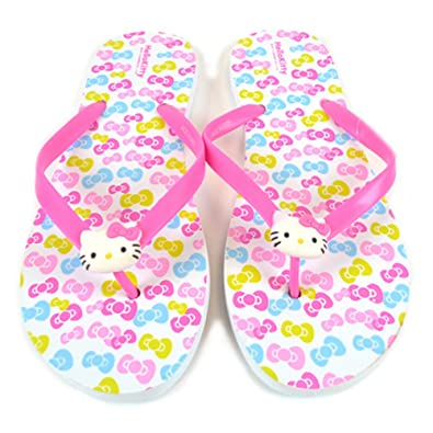 b17af6097 Image Unavailable. Image not available for. Color: Sanrio Hello Kitty Adult  Slippers/Flip Flops: ...