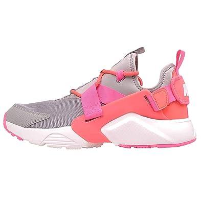 dbf5ed01e751e Nike Women s Air Huarache City Low Running Shoes Atmosphere Grey Hot Punch  (8 B(