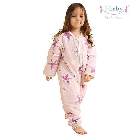 i-baby Saco de Dormir con Patas para Niños con Mangas Extraíbles Bolsa de Dormir