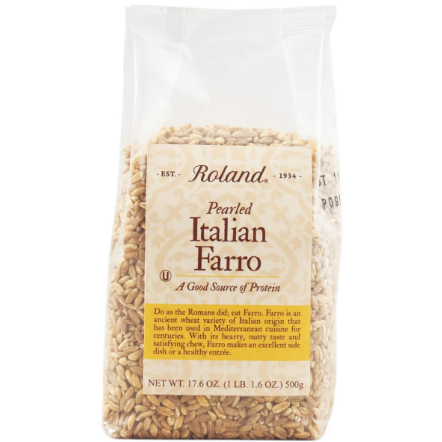 Roland Foods Pearled Italian Farro, Specialty Imported Food, 17.6-Ounce Bag, Pack of 3