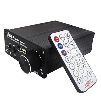 WQGNMJZ Amplificador Audio del Amplificador De Energía del Amplificador De Alta Potencia De 320W + Mp3