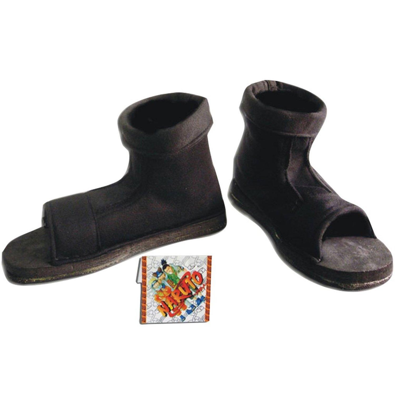 NARUTO Cosplay Zapato Black ninja Mens Size EU 38: Amazon ...