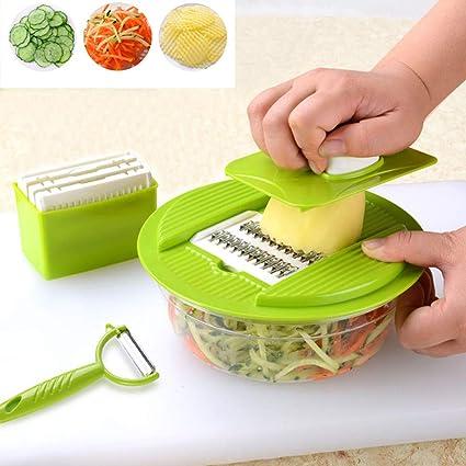 Gaddrt - Cortador de frutas y verduras (plástico y acero ...