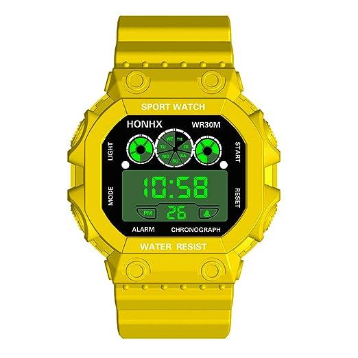 Relojes Deportivos Digitales lED para Mujeres, Hombres y niños Reloj Deportivo de Lujo con Tres Ojos analógico Digital lED Impermeable y Luminoso.