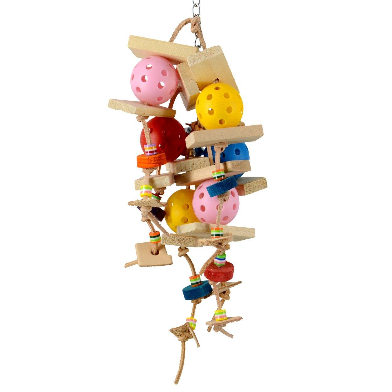 Animal Treasures LBW-0123 Birdie Jingle Balls to The Wall Bird Toys