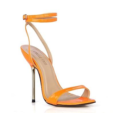 CHMILE CHAU-Scarpe da Donna-Sandali Tacco Alto a Spillo-Tacco a Metallo-Sexy -Moda-Partito-Cinturino alla Caviglia  Amazon.it  Scarpe e borse 8216b83d95d