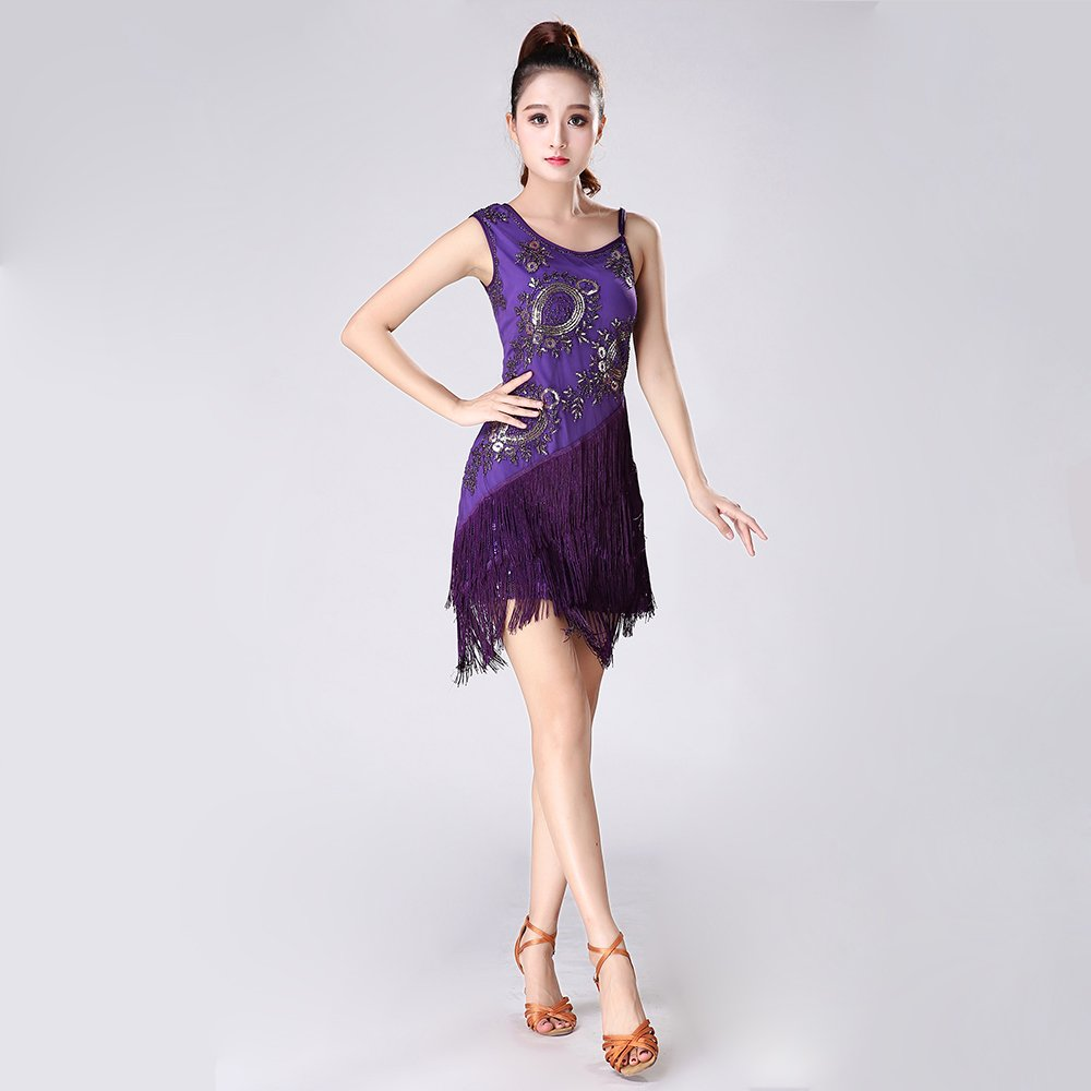 Liu Sensen Mujeres Clásicas Danza Latina Falda Tango Falda Auto ...