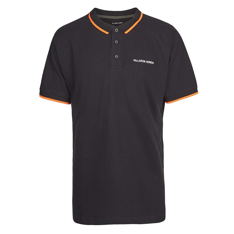 McLaren Honda F1 Team - Polo para Hombre, Color Negro, Color Negro ...