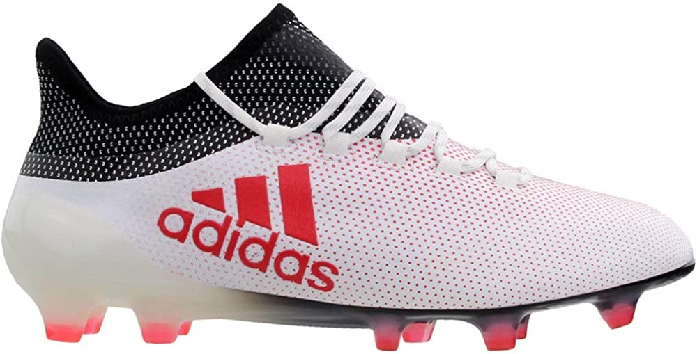 adidas Mens X 17.1 Firm Ground Soccer Casual Cleats, White
