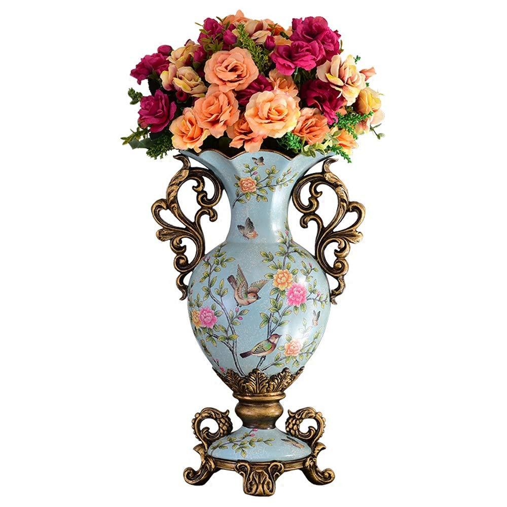花瓶用花緑植物結婚式植木鉢装飾ホームオフィスデスク花瓶花バスケットフロア花瓶農村スタイル樹脂 B07RM19ZXD