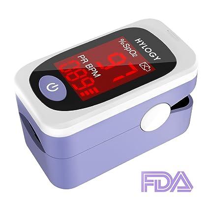 Hylogy Oxímetro de Pulso, Monitor de Oxígeno de la Sangre, Portátil con Estuche de