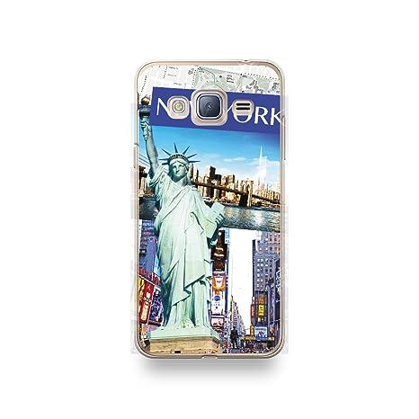 coque silicone new york transparente pojr samsung j3 2016