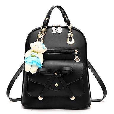 c0d39c39443 Fayland Women Teens Girls Leather Backpack Purse Satchel Shoulder School  Bags College Black
