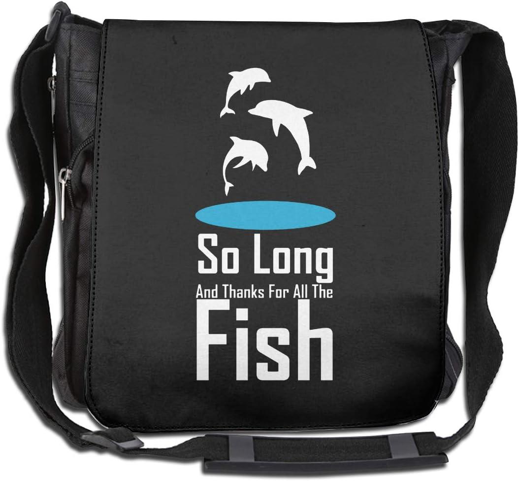 LRHUI So Long Fish Unisex Multifunction Narrow Single Shoulder Bag Diagonal Travel Bag