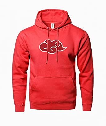 WEEKEND SHOP Hoodie Anime Naruto Akatsuki Print Hoody for Men Sweatshirt Tracksuits Hoodies Red