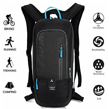 a42292ba37 Bike Backpack - 10L Breathable Waterproof Ski Backpack Mini Travel  Lightweight Bicycle Rucksack Outdoor Sports Camping
