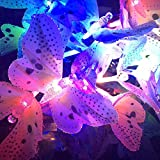 Solar Powered LED Butterfly Lights Multi-color Changing Solar Powered Garden Light For Patio Lawn Flower Tree Night Garden Decoration (Multicolor)